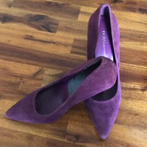 BCBGeneration Dark Plum Suede Pumps~sz 8~
